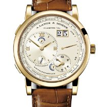 A. Lange & Söhne Yellow gold Manual winding Silver Roman numerals 41.9mm new Lange 1