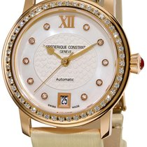 Frederique Constant Automatic 18k & Gold Diamond Womens...