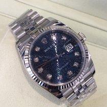 Rolex Datejust 36mm Steel, 18k White Gold Bezel 116234