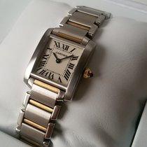Cartier Tank Française Ladies'-Steel/Yellow Gold-Full set,like...