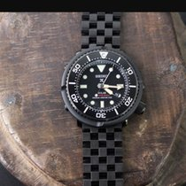 Seiko 46mm Quartz 2015 pre-owned Prospex (Submodel) Black
