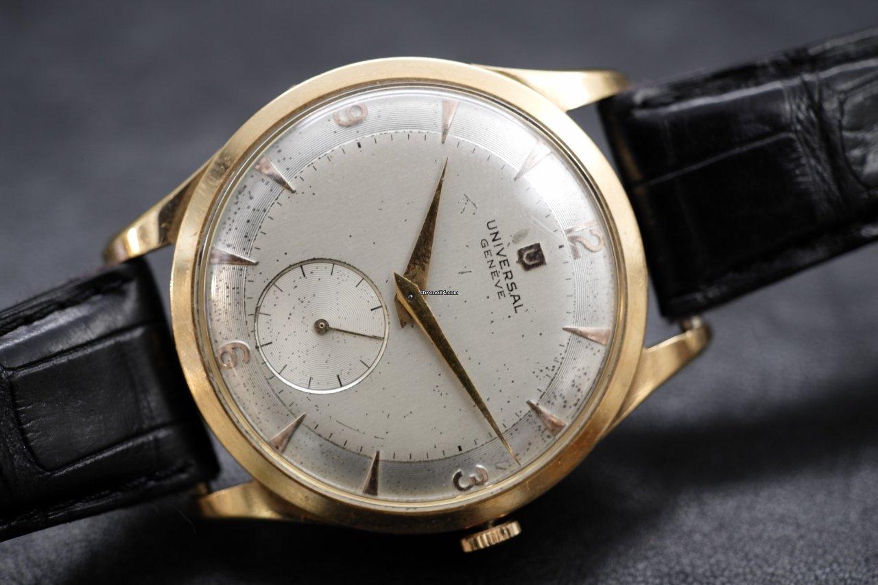 molte scelte di cercare ricco e magnifico Universal Genève Oversize Yellow Gold 37mm Step dial