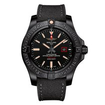 Breitling Titanium Automatic Black No numerals 44mm new Avenger Blackbird 44