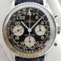 Breitling Navitimer Cosmonaute pre-owned 41mm Black Chronograph Leather