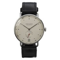 NOMOS Metro pre-owned 38mm Silver Leather