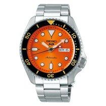 Seiko 5 Sports Steel Orange No numerals United States of America, Florida, Tarpon Springs