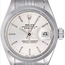 Rolex Ladies Rolex Date Pre-owned Watch 69160 Silver Stick Dial