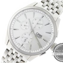 Oris Artix Chronograph pre-owned 44mm Silver Chronograph Date Steel