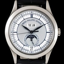 Patek Philippe 18k W/G Two-Tone Silvery Grey Dial Annual...