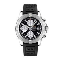Breitling Avenger II Black Chrono Automatic Rubber Strap...