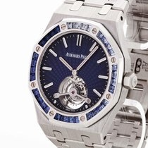 Audemars Piguet pre-owned Manual winding 41mm Blue Sapphire crystal