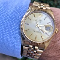 Rolex Oyster Perpetual Date Yellow gold 34mm Champagne No numerals United States of America, Florida, Coral Gables