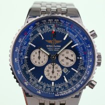 Breitling Navitimer Heritage gebraucht 43mm Blau Chronograph Datum Stahl