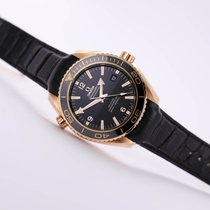 Omega Red gold Automatic Black No numerals 45.5mm new Seamaster Planet Ocean