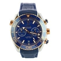 Omega Seamaster Planet Ocean Chronograph Золото/Cталь 45.5mm Синий