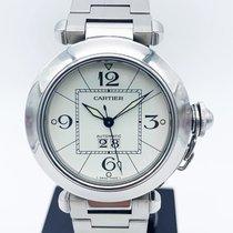 Cartier occasion Remontage automatique 35mm Blanc Verre saphir 10 ATM