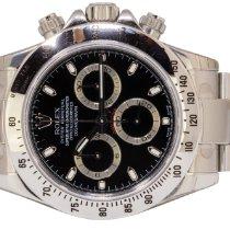 Rolex Daytona Steel 40,00mm Black No numerals