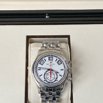 Patek Philippe Annual Calendar Chronograph Staal 40.5mm Wit Geen cijfers