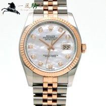 Rolex Datejust Stål 36mm Hvid