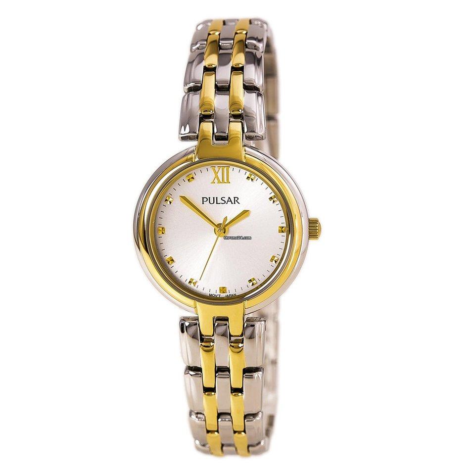Pulsar PH8128 Women's Business Two Tone Steel Silver Dial Quartz Watch