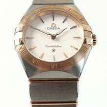 Omega Constellation Gold/Steel 28mm White No numerals