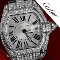 Cartier Ladies Custom Diamond Cartier Roadster Small Size...