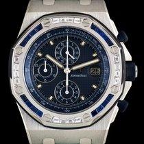 Audemars Piguet S/S Diamond & Sapphire Bezel Special Ed ROO...