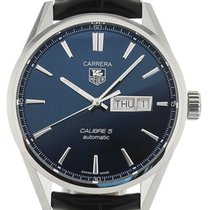 TAG Heuer Carrera Calibre 5 41mm Automatic Blue Dial Leather
