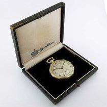 Hamilton Green Gold Filled 12-Size Pocketwatch w/ Box