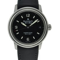 Blancpain Aqua Lung Stainless Steel Black Dial On Rubber Strap...