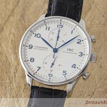 IWC Portugieser Chronograph Stahl Automatik Herrenuhr Ref. 3714