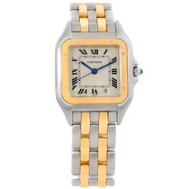 Cartier Panthere Large Steel 18k Yellow Gold Three Row Watch...