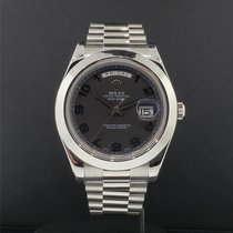 Rolex Day-Date II Platinum 41mm Black United States of America, New York, New York