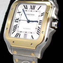 Cartier new Automatic Tempered blue hands 39.8mm Gold/Steel Sapphire crystal