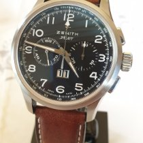 Zenith El Primero Big Date Special pre-owned 42mm Black Chronograph Date Leather
