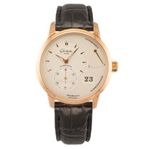 Glashütte Original Red gold Manual winding Silver 40mm new PanoReserve