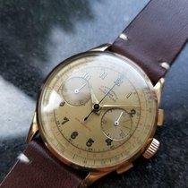 Chronographe Suisse Cie Açık kırmızı altın 38mm Elle kurmalı ikinci el