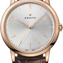 Zenith Elite Rose gold 39mm Silver No numerals United States of America, New Jersey, Princeton