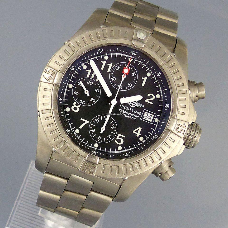 wholesale dealer 20a48 47930 Breitling Avenger Chronograph 44mm Titan E13360 Automatik aus 2001
