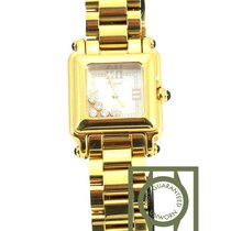 Chopard Happy Sport floating diamonds lady yellow gold...