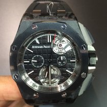 Audemars Piguet Royal Oak Offshore Tourbillon Chronograph Carbon 44mm Schwarz Keine Ziffern