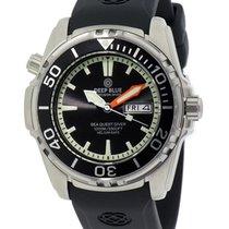 Deep Blue Sea Quest Diver 1000 Day/date Diving Watch Black...