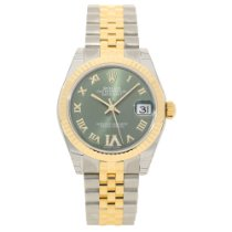 Rolex Datejust 178273 - 31mm Mid-Size - Olive Green Dial -...