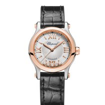 Chopard Happy Sport 18K Rose Gold, Stainless Steel & Diamonds...
