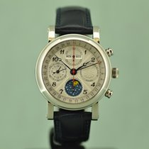 Christiaan v.d. Klaauw Chronograph 40mm Automatic new Silver
