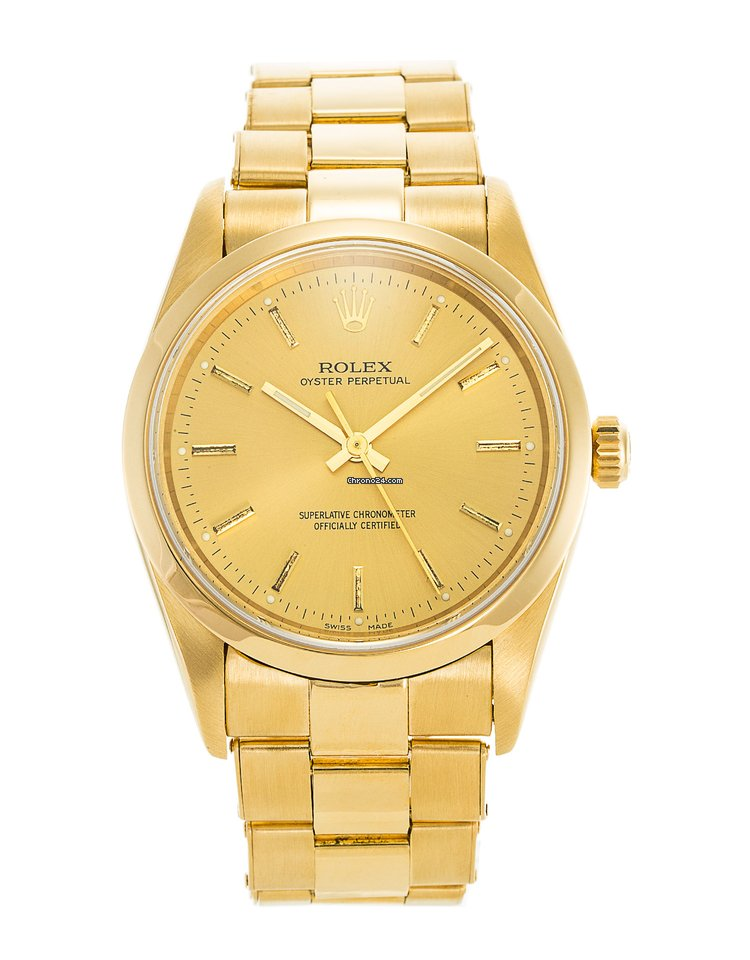 Rolex Oyster Perpetual Yellow gold - all prices for Rolex Oyster Perpetual  Yellow gold watches on Chrono24 a8b4eecd307f