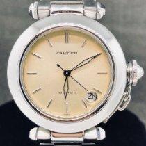 Cartier Pasha C Acier 35mm Jaune Sans chiffres