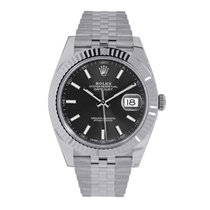 Rolex Datejust 41mm Steel & White Gold Rhodium Index Dial 126334