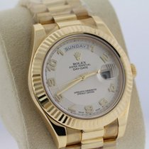 Rolex Day-Date II Yellow gold 41mm White Roman numerals United States of America, New York, Massapequa Park