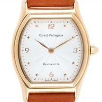Girard Perregaux Or jaune Quartz Blanc Arabes 37mm occasion Richeville